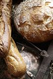Three delicious breads together royalty free stock photos