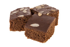 Three delicious brownies Royalty Free Stock Photo