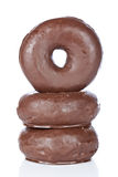 Three delicious donuts Royalty Free Stock Images
