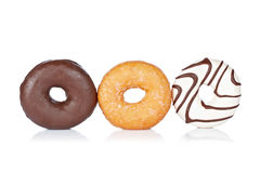 Three delicious donuts Stock Images