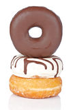 Three delicious donuts Royalty Free Stock Photography