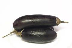Three delicious fresh eggplant Royalty Free Stock Photos