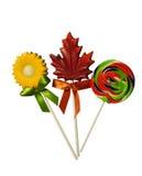 Three delicious Lollipops royalty free stock photos