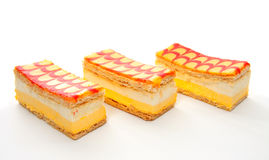 Three delicious Tompouce pastry Stock Image