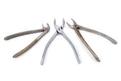 Three  dental pliers Stock Images