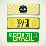Three designs car plates BRAZIL Royalty Free Stock Photos