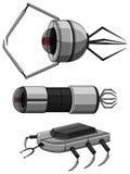 Three designs of nanobots Royalty Free Stock Photos