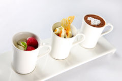 Three desserts Royalty Free Stock Photography