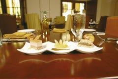 Three desserts Royalty Free Stock Image