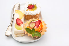 Three Desserts Selection Stock Image