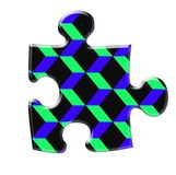 Three diamensional puzzle Royalty Free Stock Photos