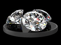 Three diamonds Stock Photos