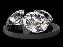 Three diamonds Stock Photos