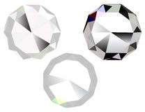 Three diamonds Stock Images