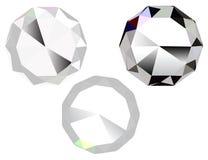 Three diamonds. Illustration of three diamonds, jewel stone vector icon Stock Images