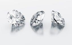 Three diamonds Royalty Free Stock Photos