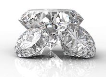 Three diamonds  on white Stock Images