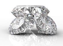 Three diamonds  on white Stock Images