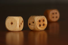 Three dice Royalty Free Stock Image