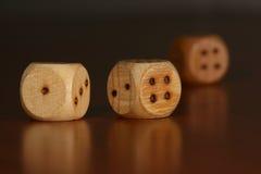 Three dice Royalty Free Stock Image