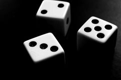 Three dice Royalty Free Stock Photo