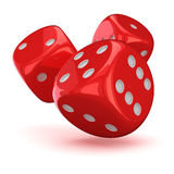Three dice Royalty Free Stock Photos