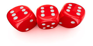 Three dice Stock Photos