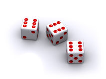 Three dice Stock Image
