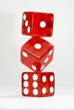 Three dice Stock Photo