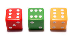 Three dice Royalty Free Stock Photo