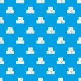 Three dice cubes pattern seamless blue Royalty Free Stock Image