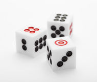 Three dice on table for game set Royalty Free Stock Photography