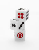 Three dice on table for game set Royalty Free Stock Photo