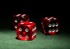 Three dices Royalty Free Stock Photo