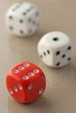 Three dices Stock Image