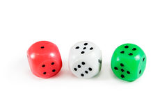 Three dices Royalty Free Stock Photos