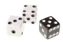 Three dices Stock Photography