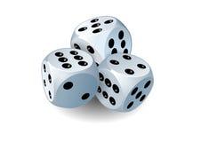 Three dices Royalty Free Stock Photos