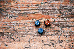 Three dices Stock Images