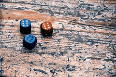 Three dices Stock Photos
