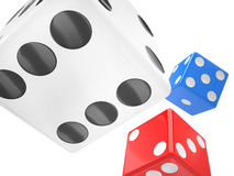 Three dices on white Royalty Free Stock Images