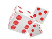 Three dices on white Royalty Free Stock Photo