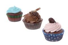 Three diferent cupcakes Stock Images