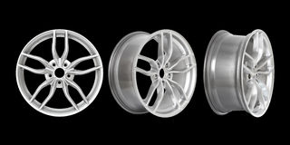 Three different angles rims Stock Photography
