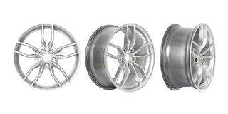 Three different angles rims Royalty Free Stock Photos