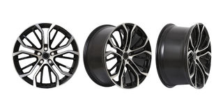 Three different angles rims Stock Image