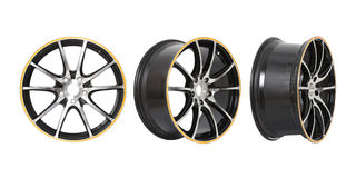 Three different angles rims Royalty Free Stock Images