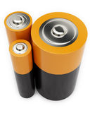 Three Different Battery Stock Photography
