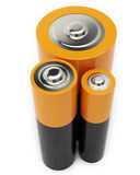 Three Different Battery Royalty Free Stock Images