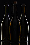 Three different bottles of wine Royalty Free Stock Photo
